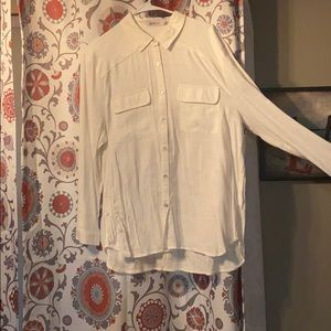 White long sleeve button down white shirt